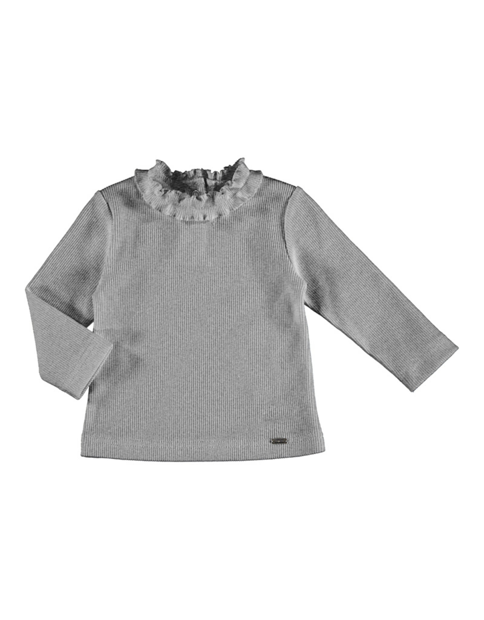 Mayoral Rib mockneck sweater Silver