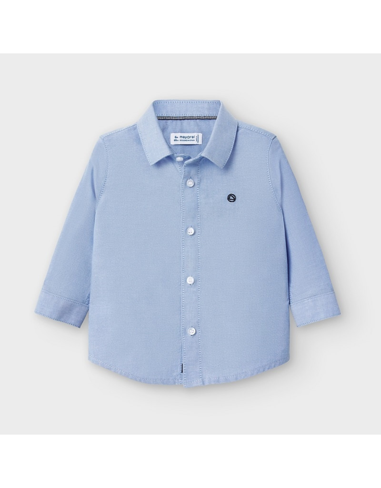 Mayoral L/s basic oxford shirt Lavender