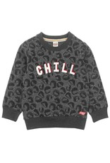Sturdy Sweater Chill - Popcorn Power Antraciet melange