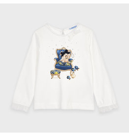 Mayoral L/s puppy t-shirt Navy