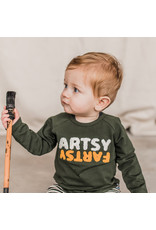 Your Wishes Artsy Fartsy | Raglan Longsleeve Desk Green