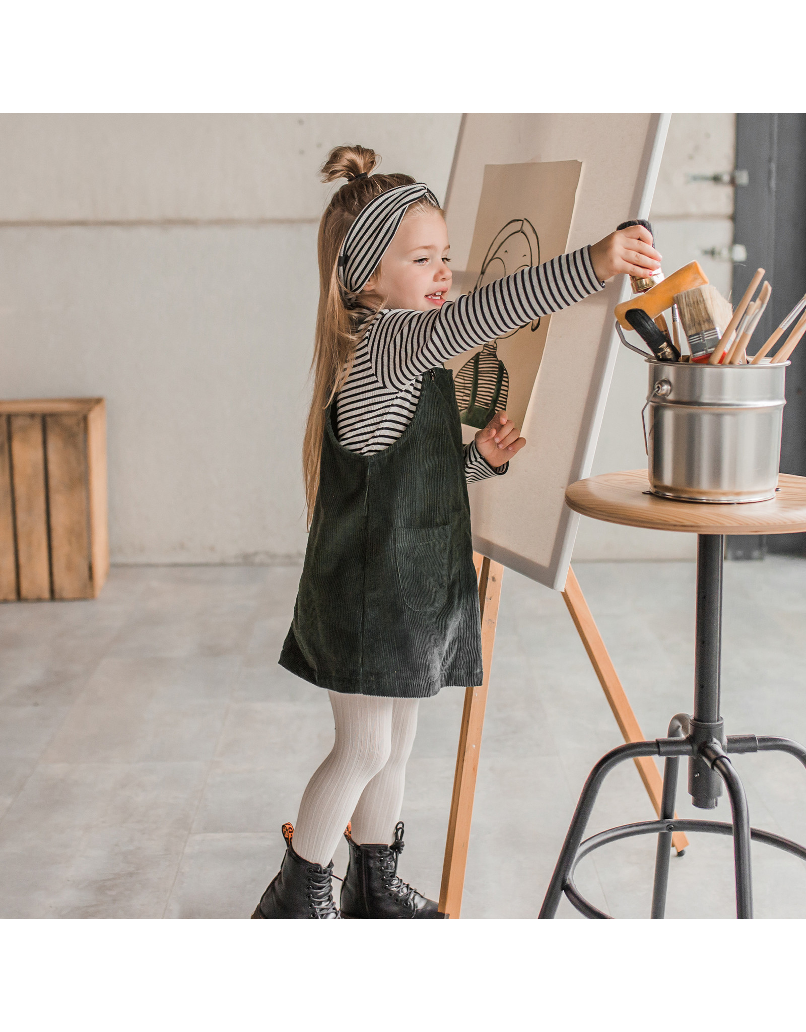 Your Wishes Corduroy | Pinafore Desk Green