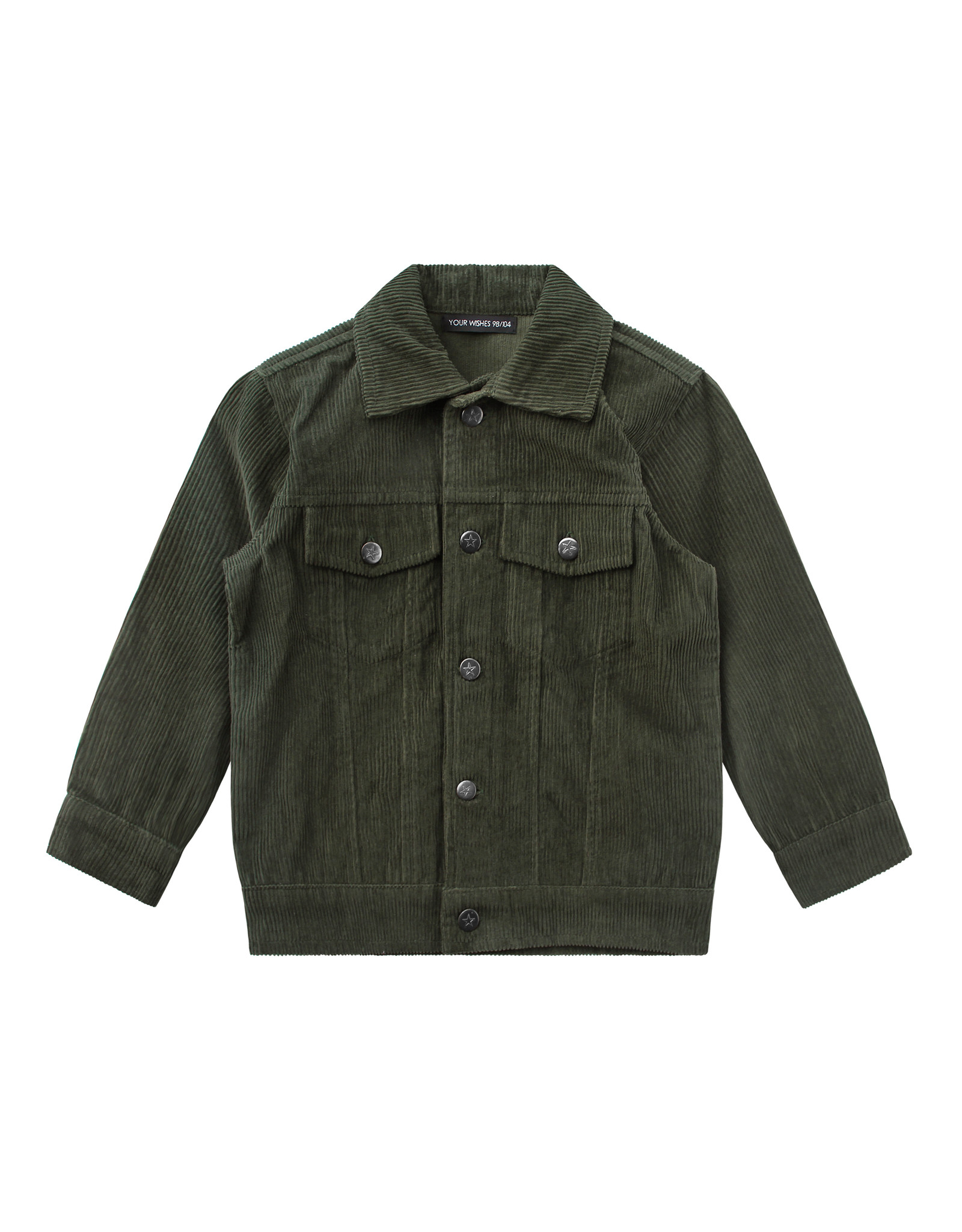 Your Wishes Corduroy   Jacket Desk Green