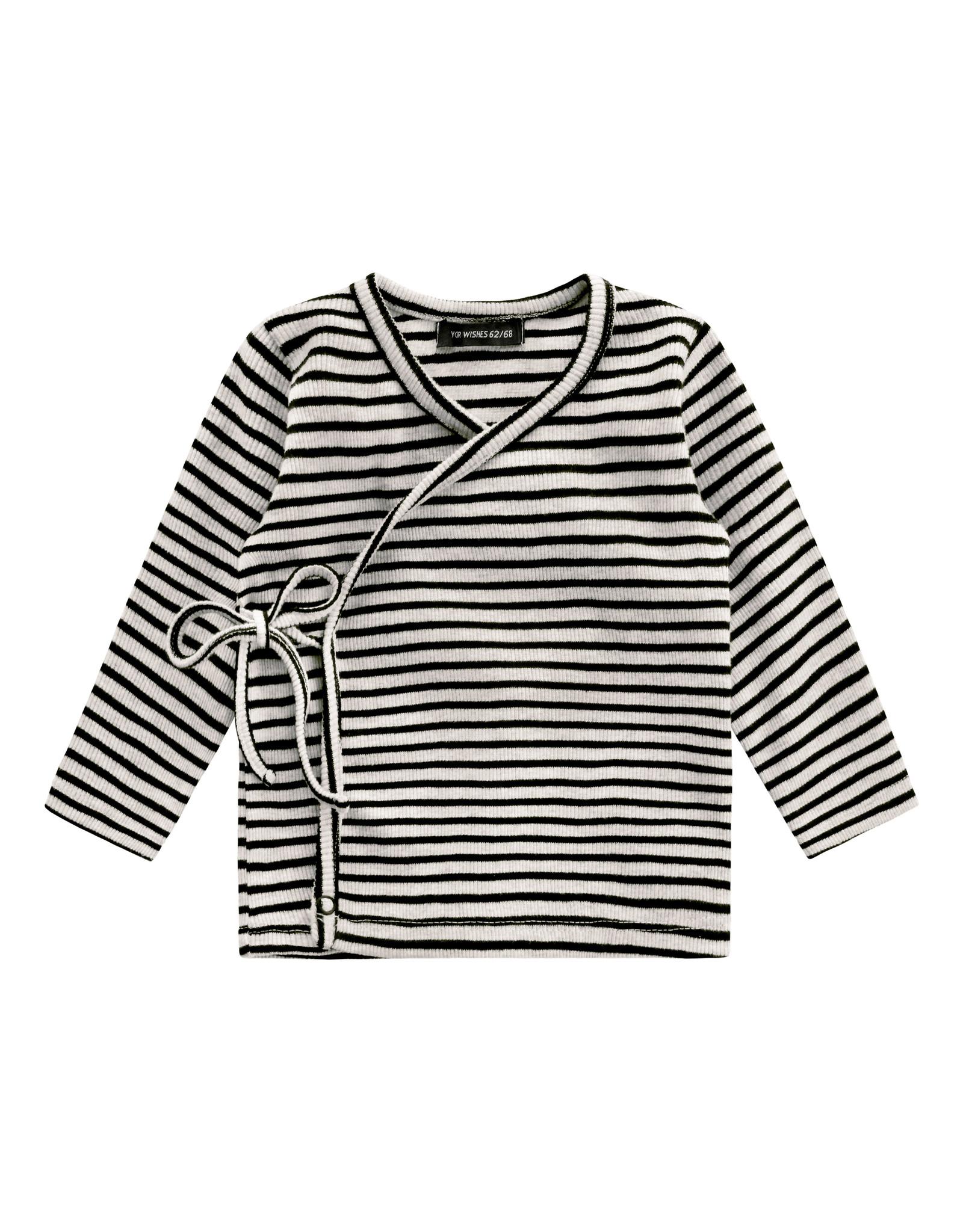 Your Wishes Beige - Stripes | Newborn Vest Chalk