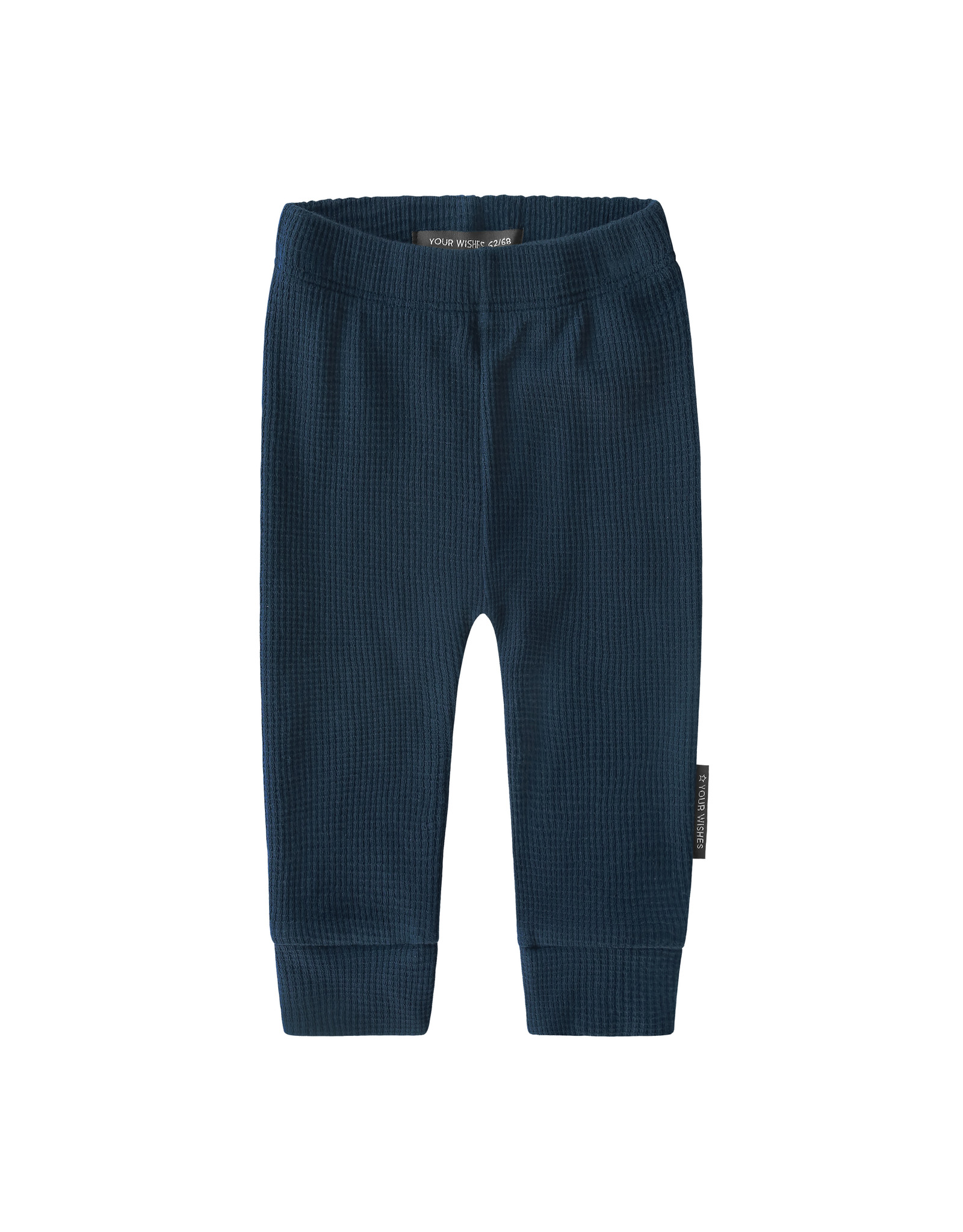Your Wishes Navy - Waffle | Fitted Pants Navy