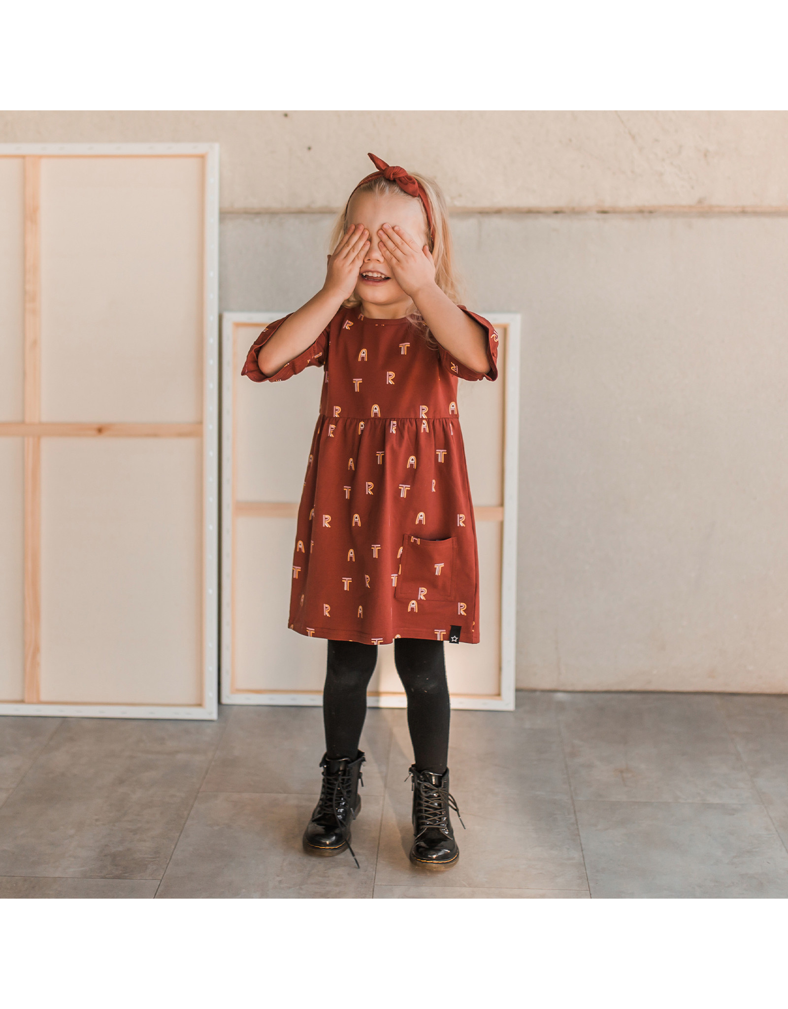 Your Wishes Art | Ruffle Dress Rust