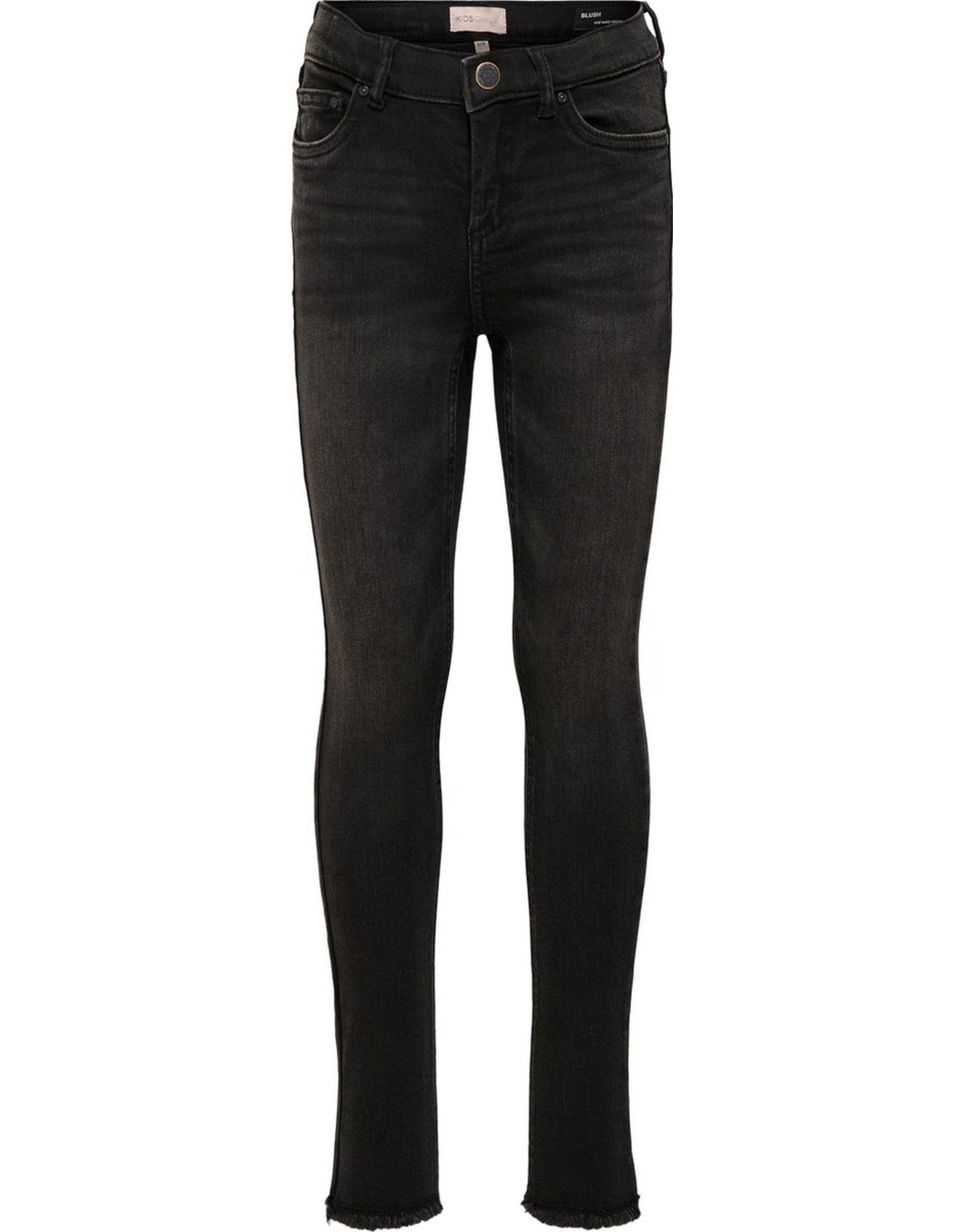 Kids Only Konblush Skinny Raw Jeans 1099 Noos Black Denim