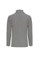 Kids Only Konnella L/S High Neck Stripes Top Jrs Black