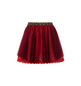 LOOXS Little Little mesh skirt wine