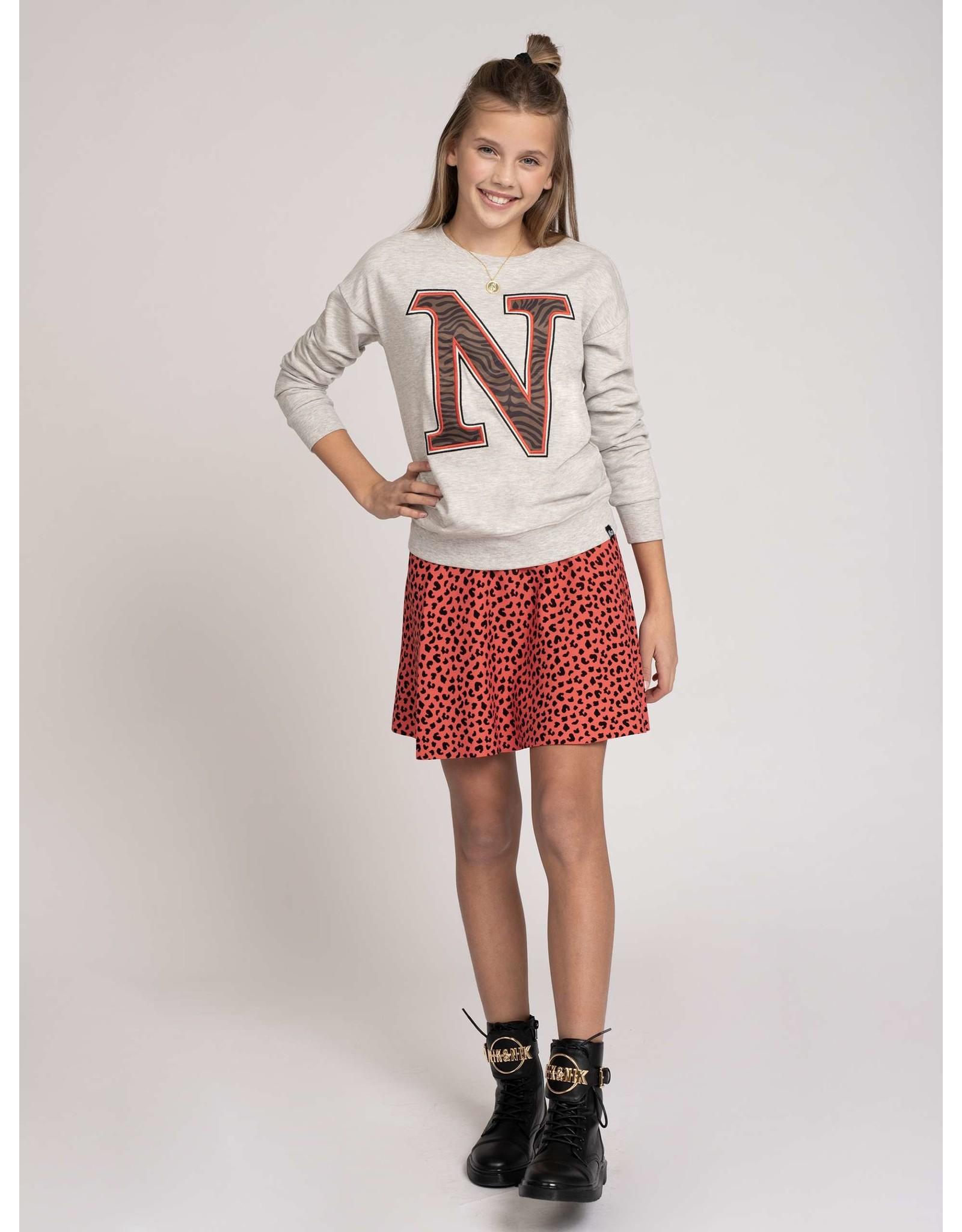 Nik & Nik Poloma Sweater Ultra Light Grey Melange