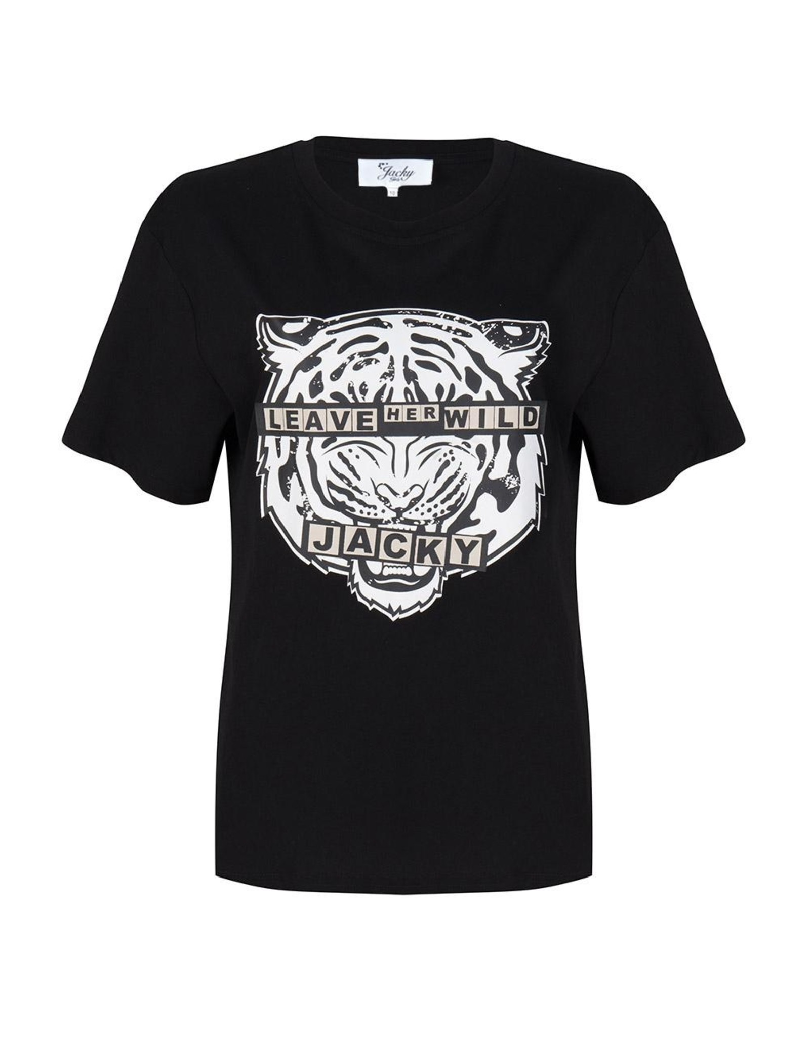 Jacky Luxury T-shirt met  Artwork Black