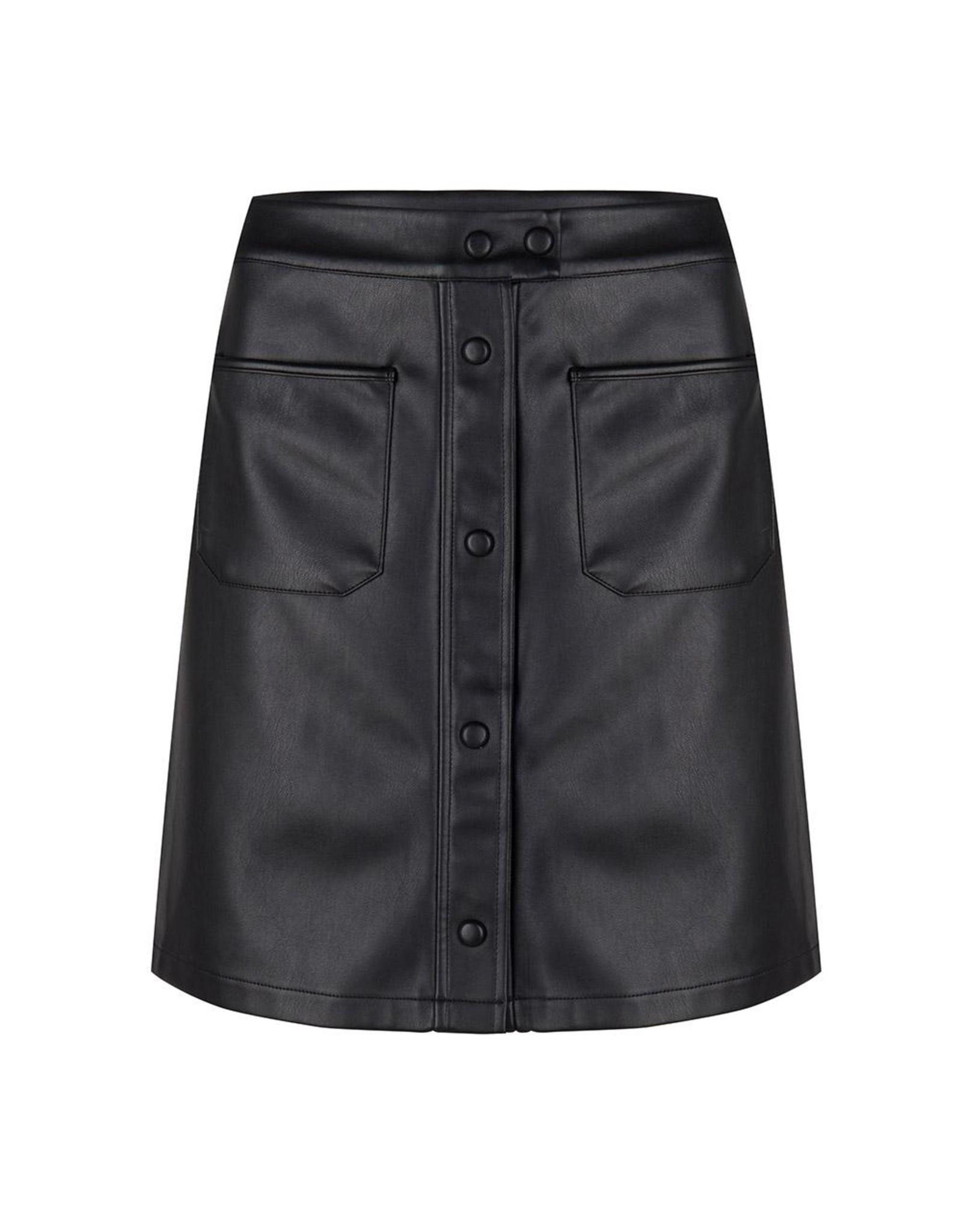 Jacky Luxury Leren rok black
