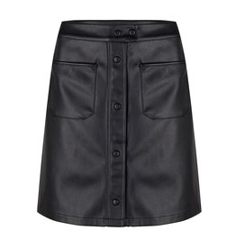 Jacky Luxury Leren rok black