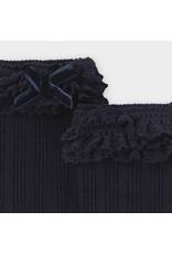 Mayoral Strik sokken voor babymeisjes Navy Blue