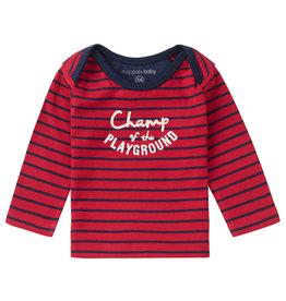 Noppies B T-Shirt LS Hawston Str Scarlet Sage