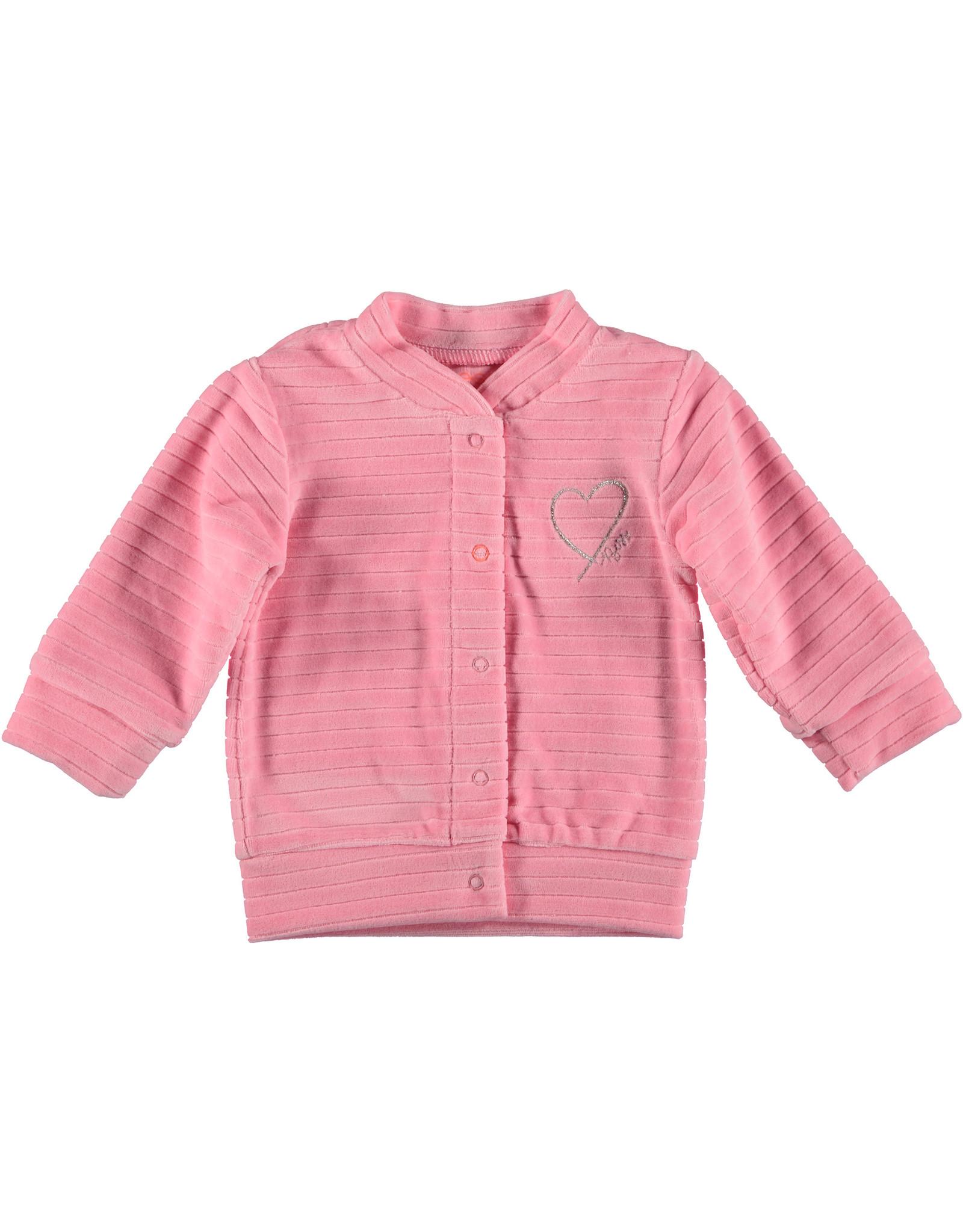 Bess Cardigan Velvet Striped Pink