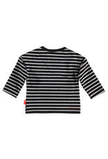 Bess Shirt l.sl. Striped B Anthracite