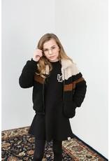LOOXS 10sixteen Girls Bomber Teddy Jacket Black