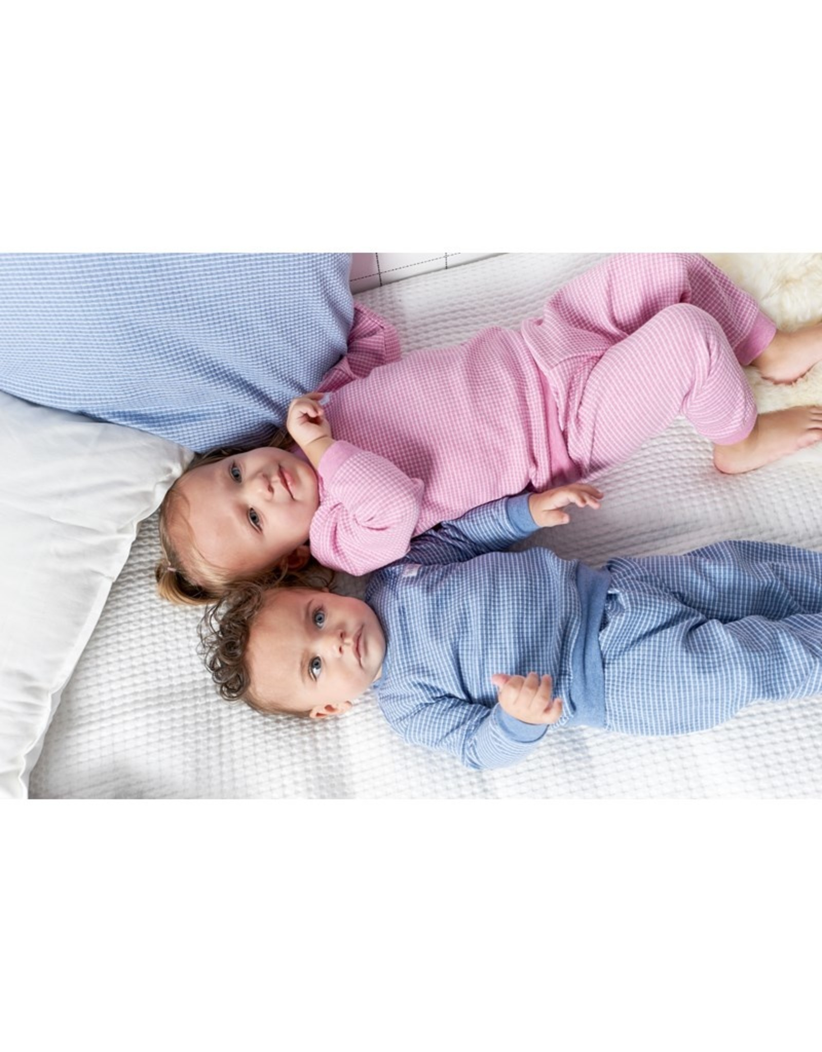 Feetje Pyjama wafel Blue melange
