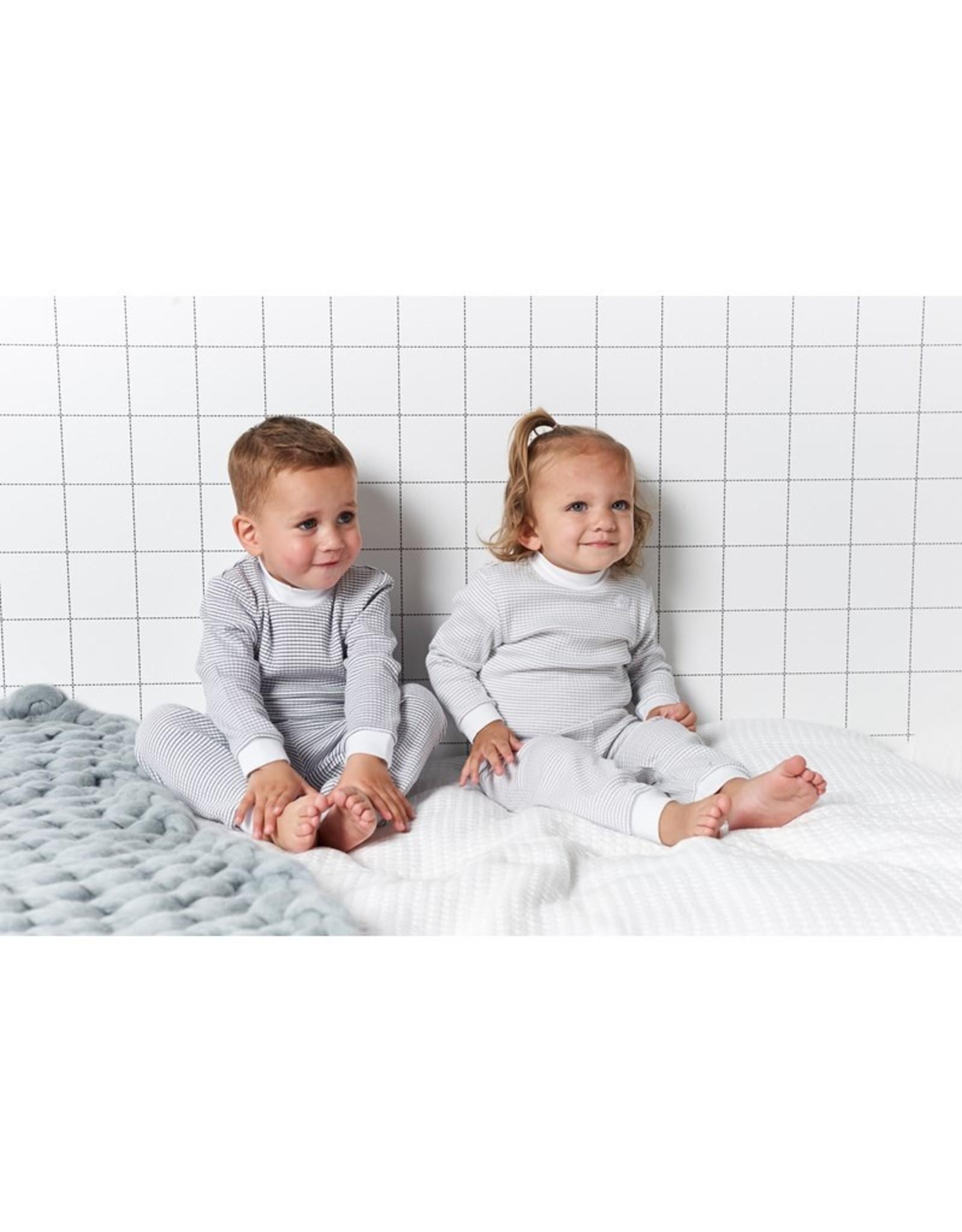 Feetje Pyjama wafel Grijs