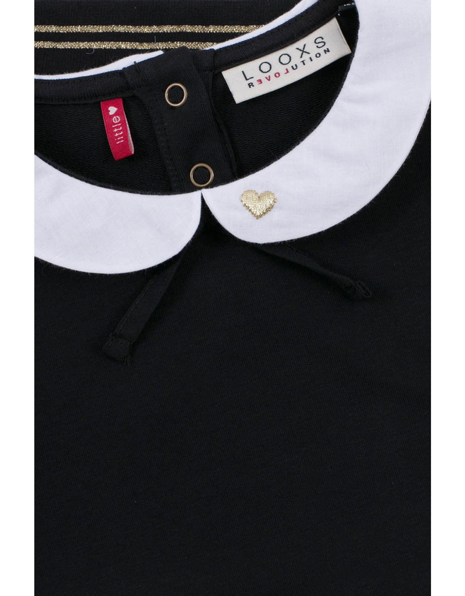 LOOXS Little Little collar sweater black