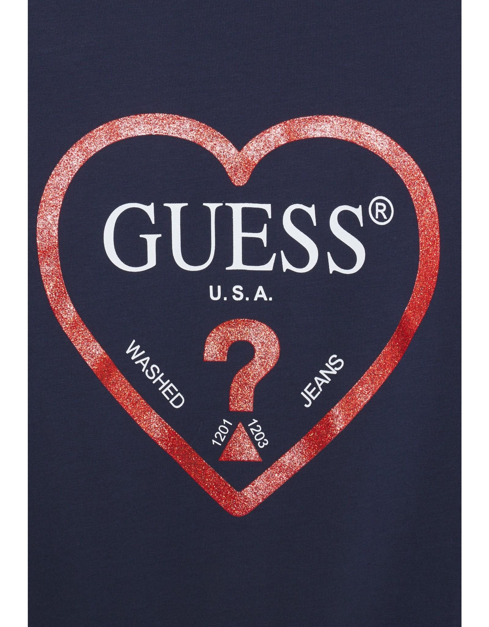 Guess Longsleeve Navy Red Heart