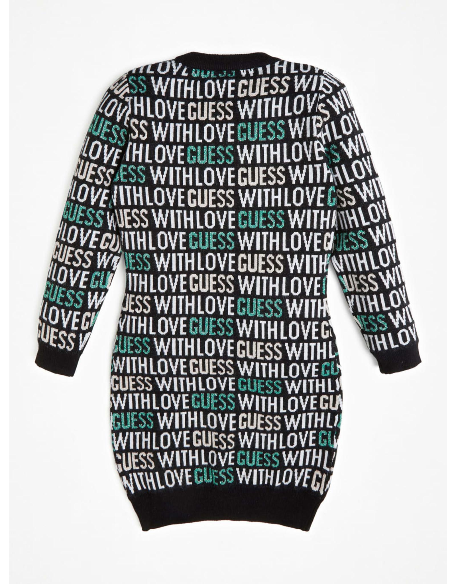 Guess Sweat Dress Knit Logo BlackGreen