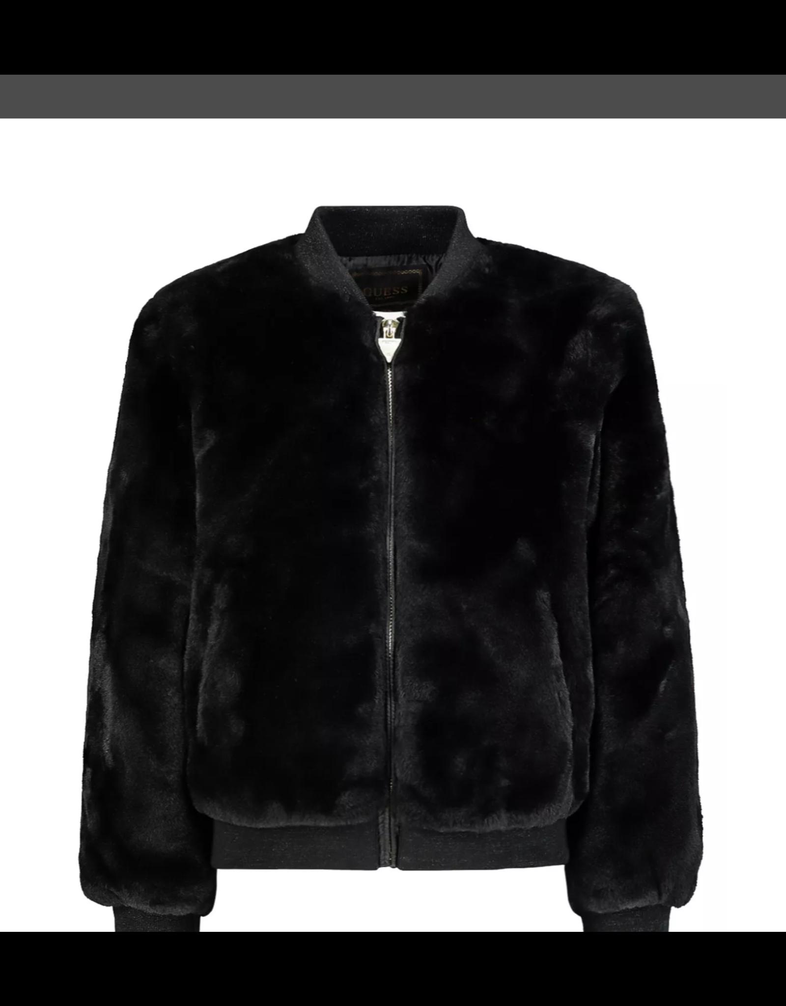 Guess Fluffy Jacket Black