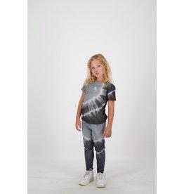 Reinders T-SHIRT TIE DYE SHORT SLEEVES Metal Grey/True Black