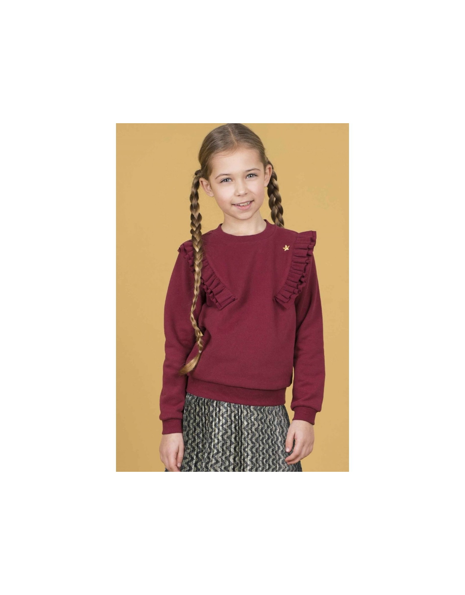 Like Flo girls sweater fancy rib Bordeaux