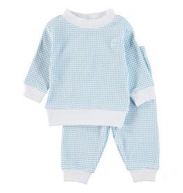 Feetje Pyjama wafel Azur
