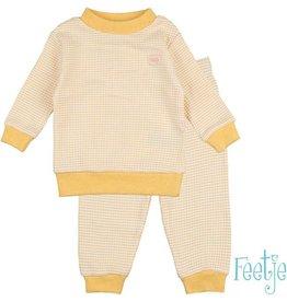 Feetje Pyjama wafel Yellow Ochre
