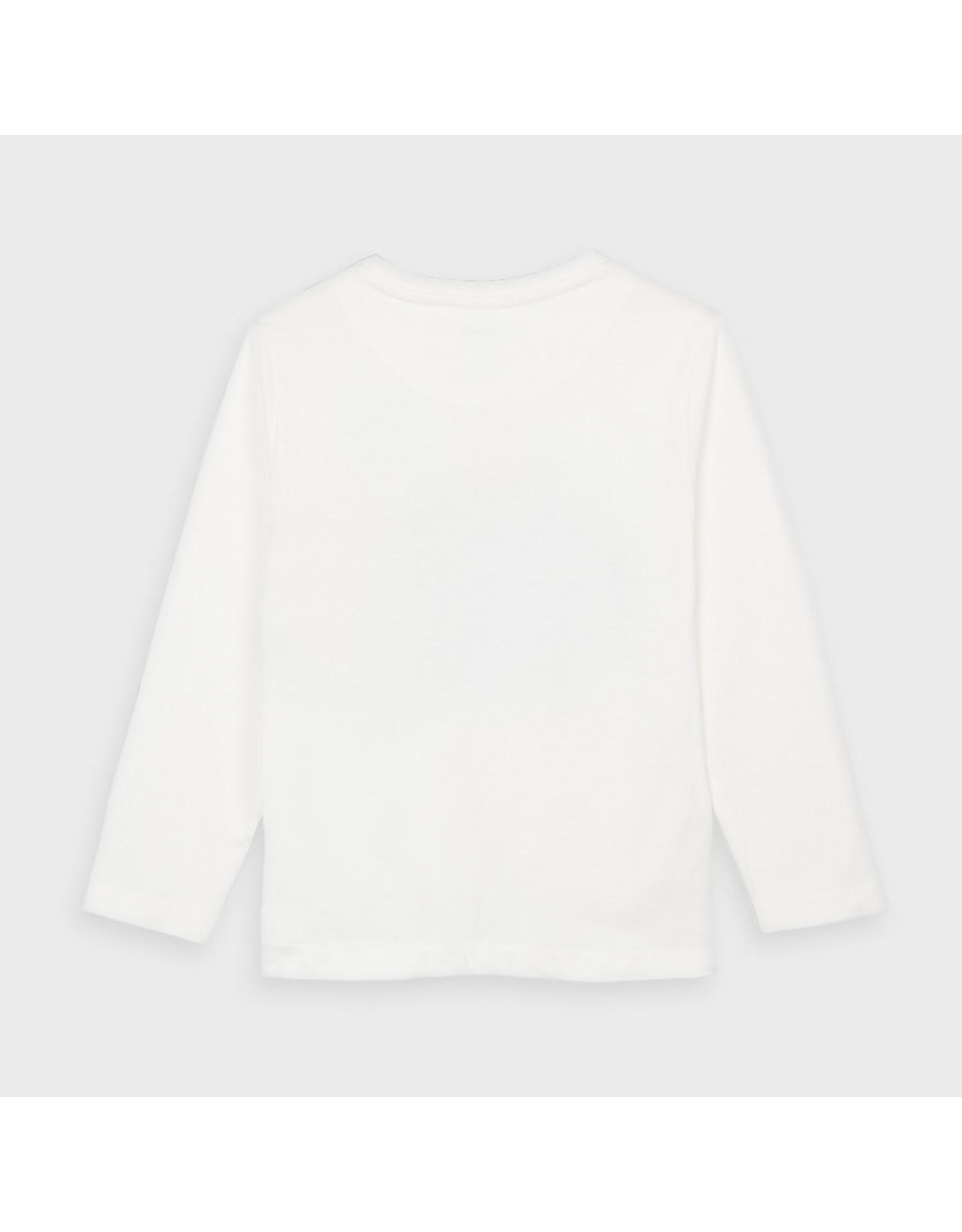 Mayoral L/s t-shirt Motor Cream