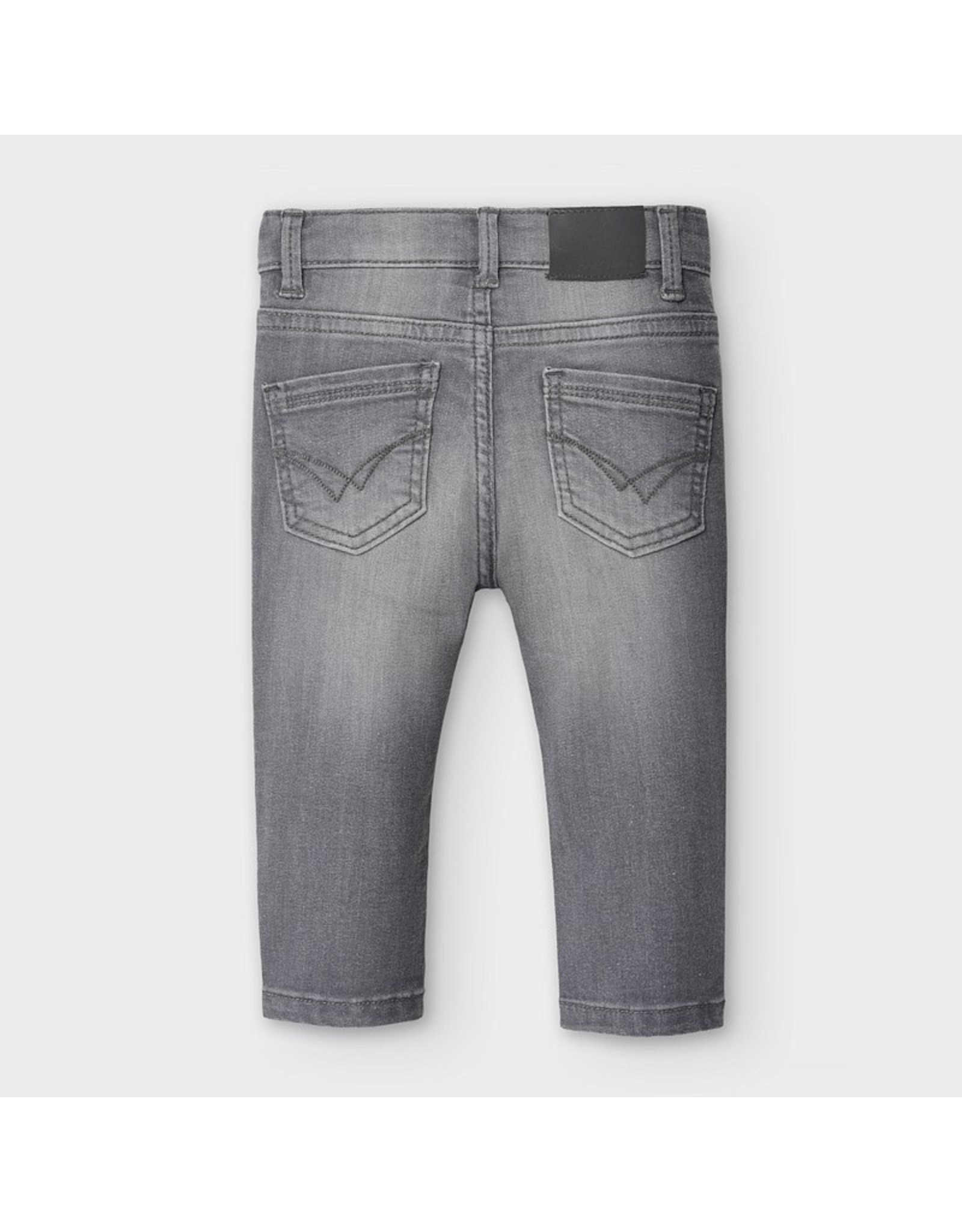 Mayoral Basic slim fit trousers Gray