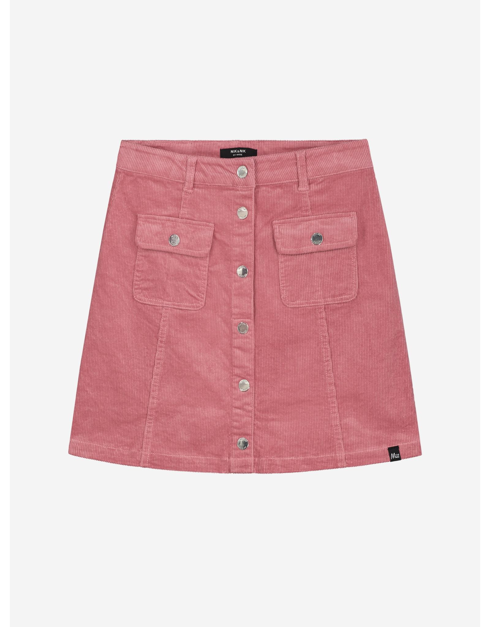 Nik & Nik Florijne Corduroy Skirt Vintage Pink