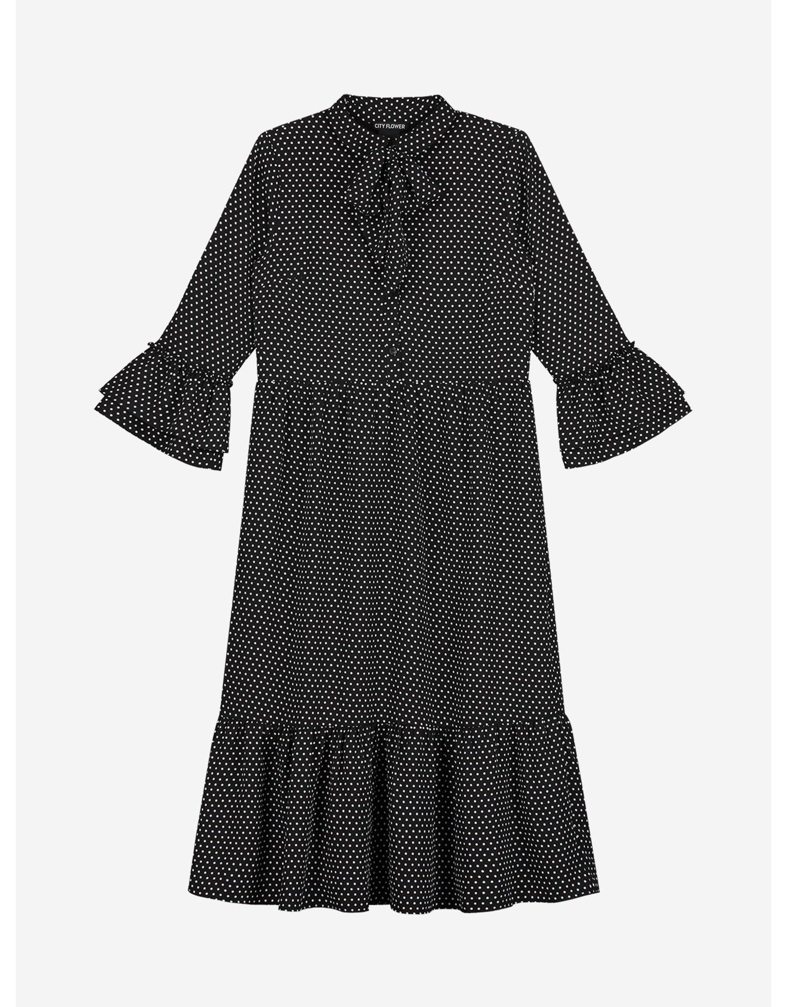 Nik & Nik Tilly Dot Long Dress Black