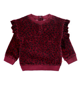 Your Wishes Panther | Ruffle Sweater Plum