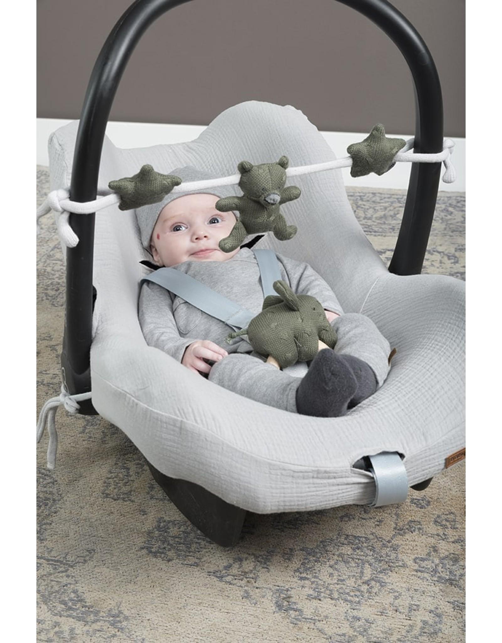 Baby's Only Houten rammelaar Olifant khaki
