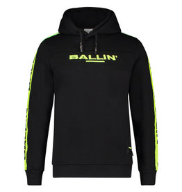 Ballin Amsterdam Hoodie Neon Logo Tape Embroidery Edition