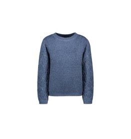 Like Flo girls knitted ajour sweater Ice blue