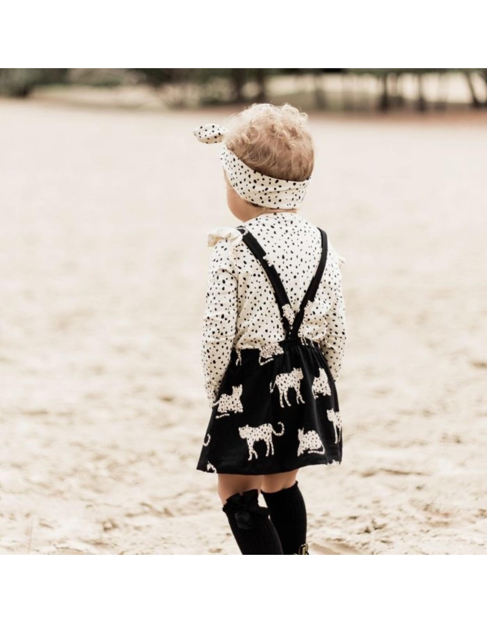Your Wishes Dungaree Dress Wild Cheetahs Zwart