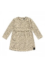 Your Wishes Pleated Dress LS Cheetah Nude