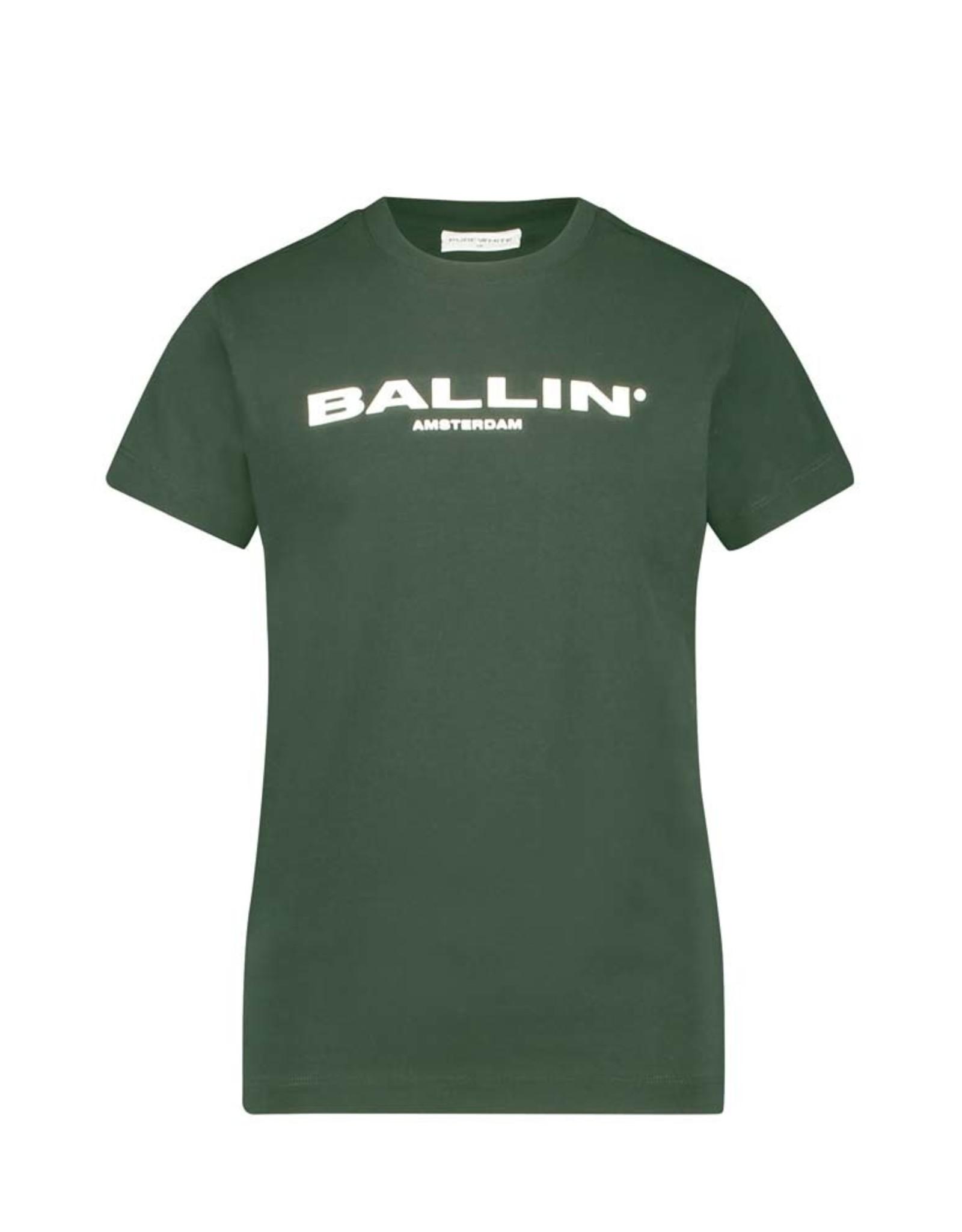Ballin Amsterdam Kids T-shirt Orginal Logo Army Green