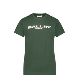 Ballin Amsterdam Kids T-shirt Orginal Logo Army Green