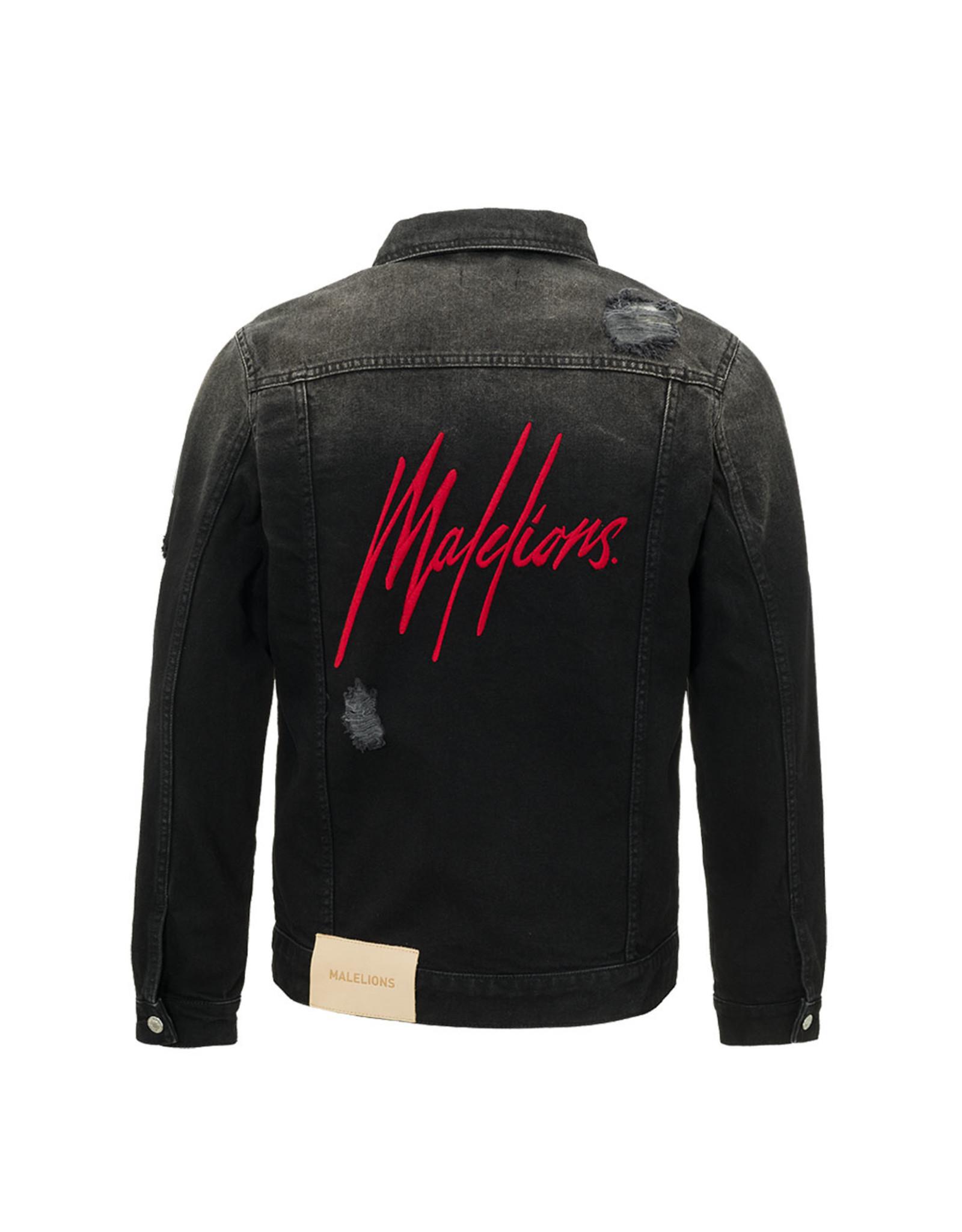Malelions Junior Denim Jacket Black/TieDye