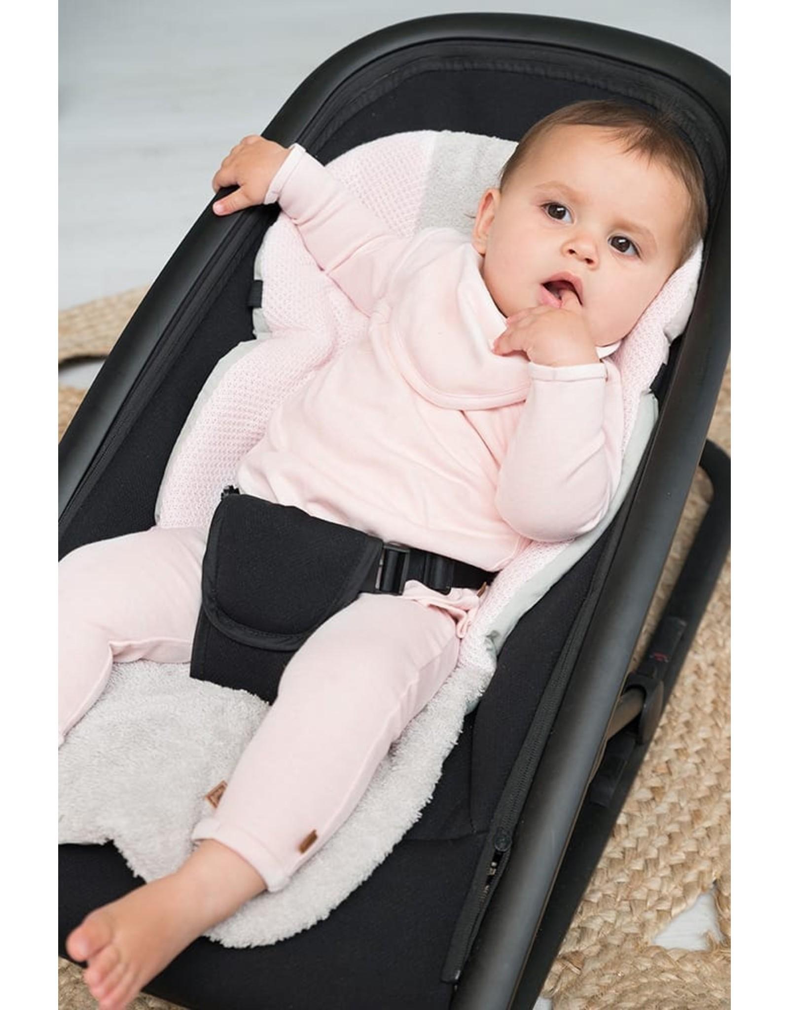 Baby's Only Bandana Slab Melange Classic Rose