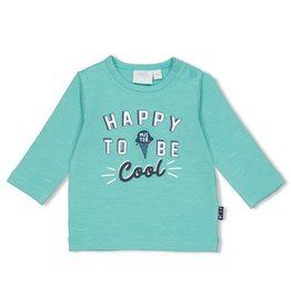 Feetje Longsleeve Happy - Team Icecream Mint melange