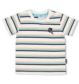 Feetje T-shirt streep - Team Icecream Wit