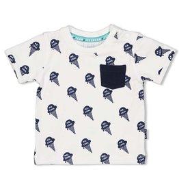 Feetje T-shirt AOP - Team Icecream Wit