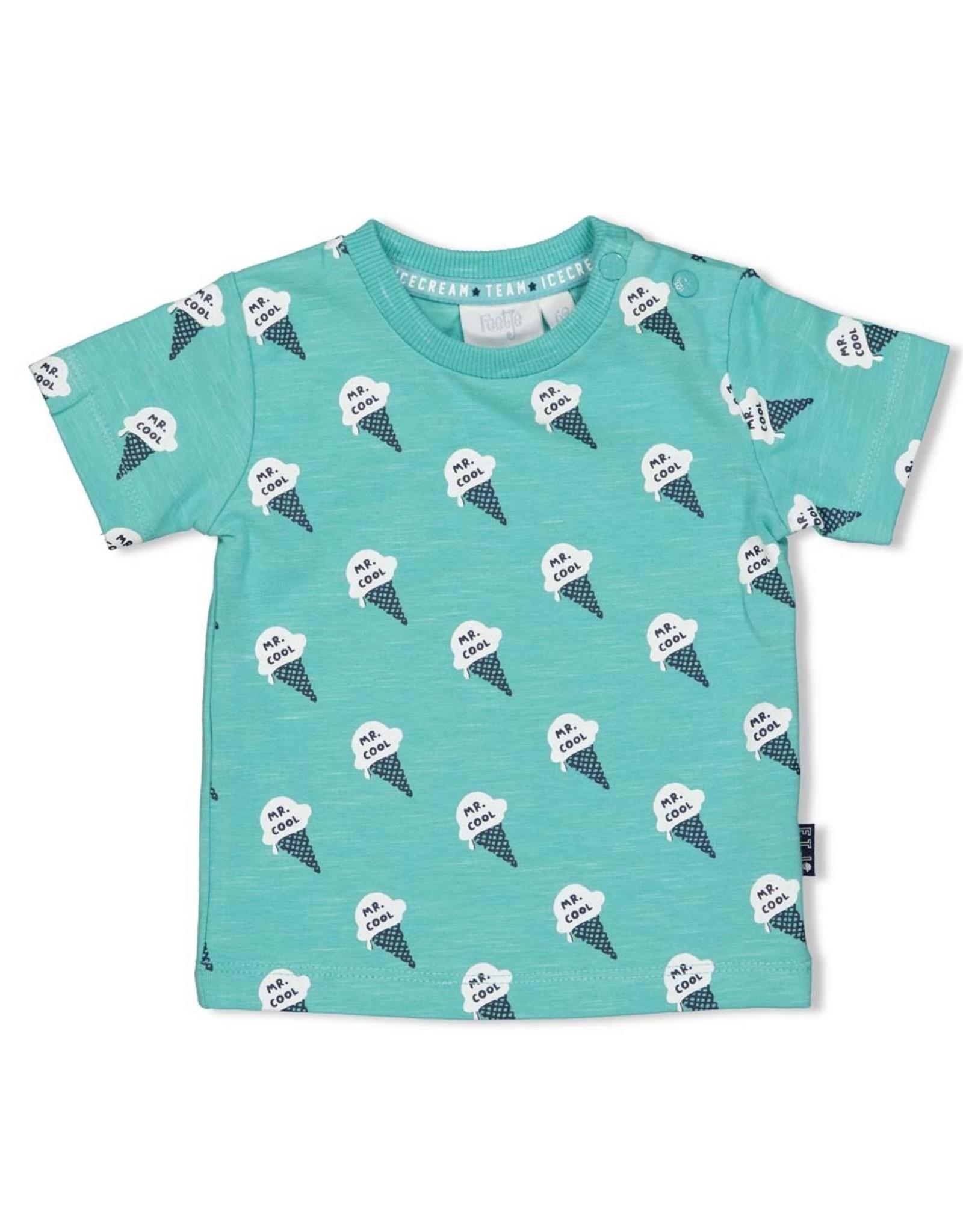 Feetje T-shirt AOP - Team Icecream Mint melange